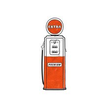 Retro Style Gas Station Pump A...