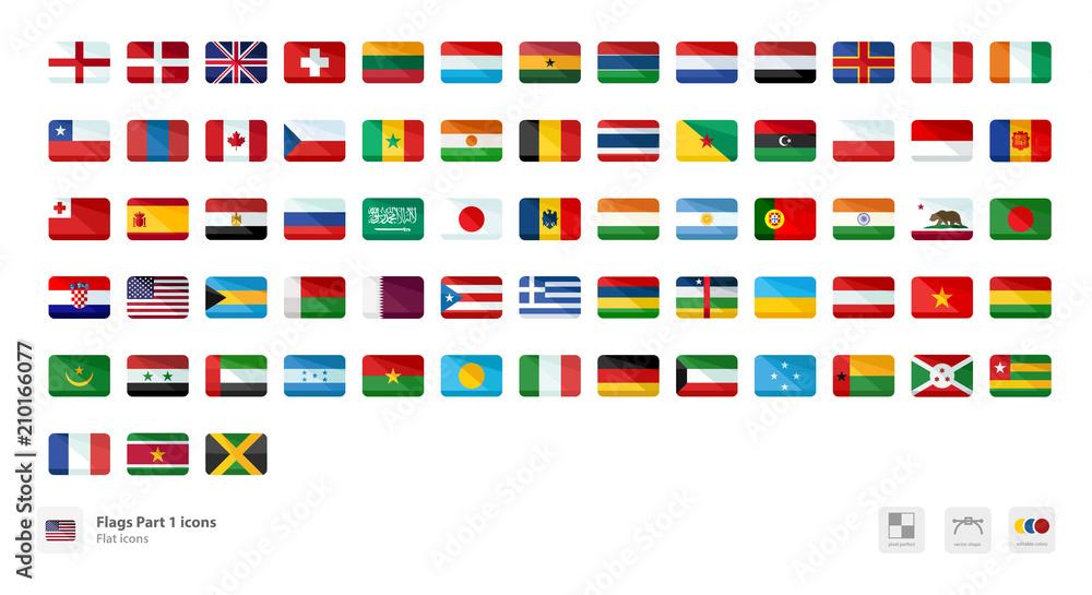 Fototapeta Flags icons