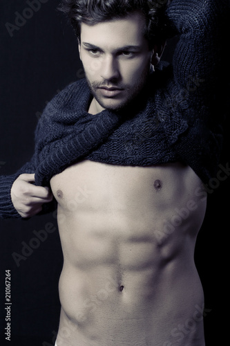 Fotografie, Obraz  Handsome young man portrait