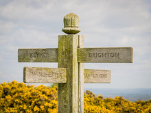 Signpost Of The South Downs Wa...