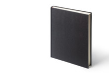 Black Book Isolated On White Background