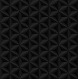 Abstract black diamond 3d geometric seamless pattern. Vector illustration. - 210180291