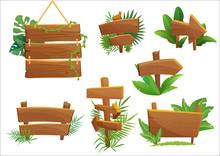 Jungle Rainforest Wood Sign Wi...