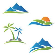 Nature Landscape Vector Icon