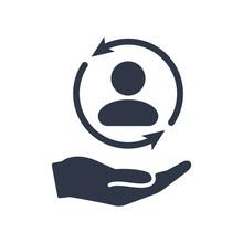 Full Customer Care Service - Minimal Vector Icon