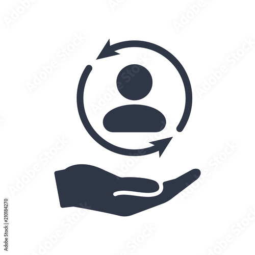 Full customer care service - Minimal vector icon Fototapete