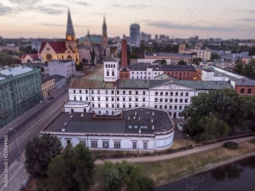 Fototapeta Łódź, Polska. Widok na Białą Fabrykę. obraz