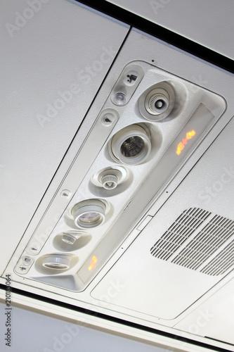 Fotografia  Boeing 737 airliner cabin control device