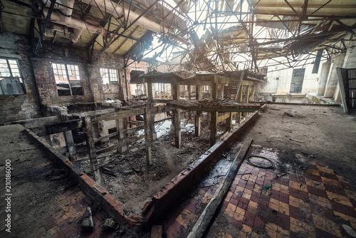 abandonad factory, ruins