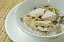 Boiled Chicken With Slice Bana...