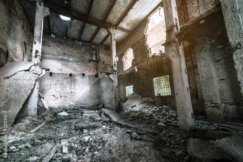 ruins of abandoned old factory
