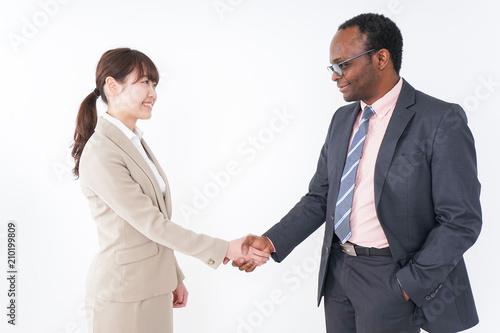 Fotografia  握手するビジネスパーソン