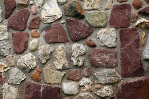 Część stara kamienna ściana dla tła lub tekstury ,.