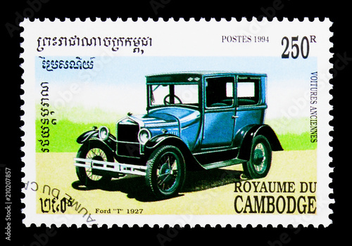 Photo Ford model T 1927, Old cars serie, circa 1994