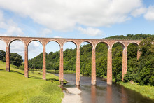 Leaderfoot Viaduct.  Leaderfoot Viaduct Is A Railway Viaduct Over The River Tweed In The Scottish Borders.
