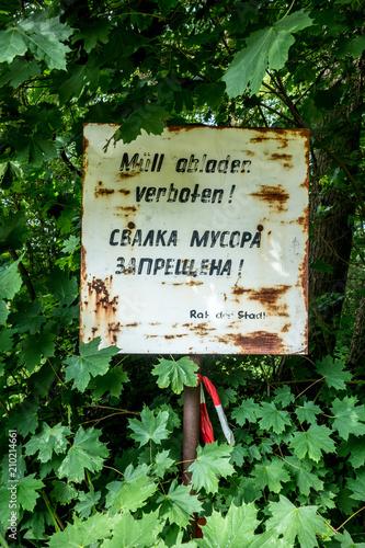 Photo sur Toile Biere, Cidre Müll abladen verboten!