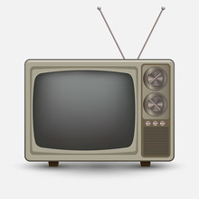 Realistic Old Vintage TV.