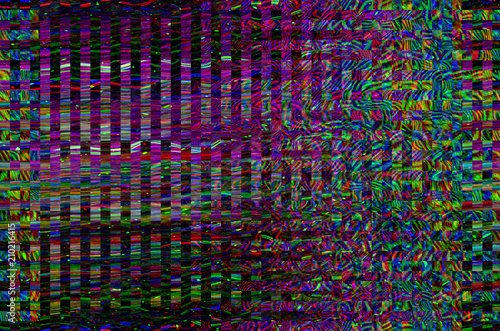 Glitch Universe Background Old Tv Screen Error Digital Pixel Noise