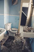 Derelict Bathroom In A Long Ab...
