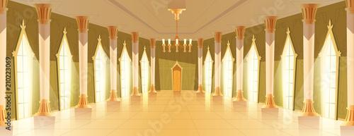 Valokuva Ballroom or royal hall vector illustration of entrance door view