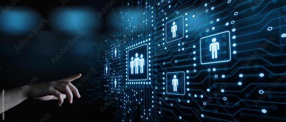 Fototapeta Human Resources HR management Recruitment Employment Headhunting Concept