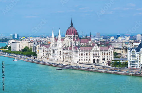 Spoed Foto op Canvas Boedapest Parliament of Hungary in Budapest