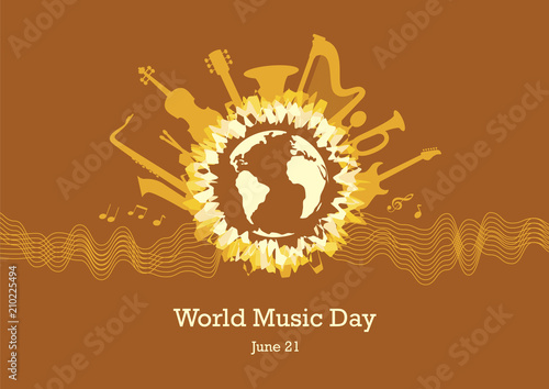 Photo  World Music Day vector