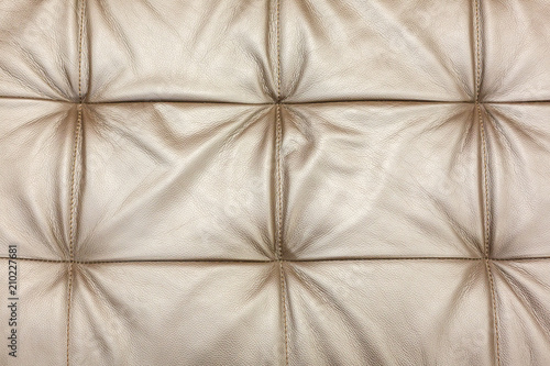Texture Of Leather Beige Sofa Upholstery As Background Buy This
