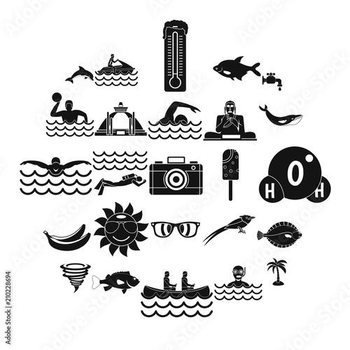 Fotografia, Obraz  Plunge icons set