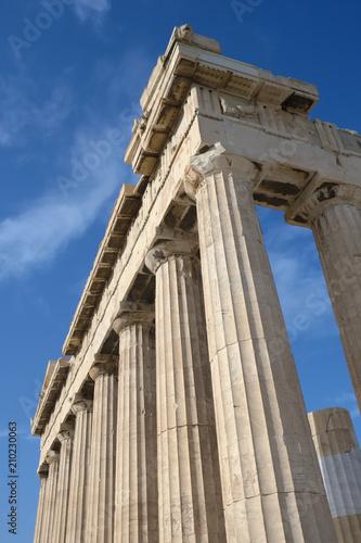 Staande foto Athene Columns of Parthenon temple in Acropolis, Athens.