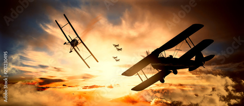 aerial battle first world war Fototapet