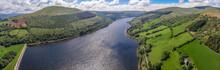 Aerial View Of Lake In Natural...