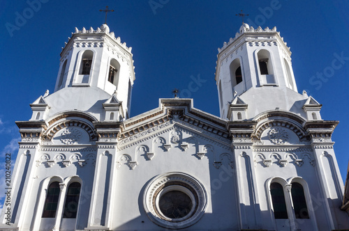 Keuken foto achterwand Zuid-Amerika land Église de San Sebastián, Cuenca, Équateur