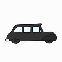 Isolated Black Car On White Ba...