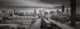 Chicago Skyline od strony zachodniej wraz z pociągiem