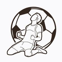 Soccer Player The Winner Actio...