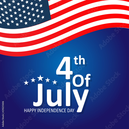 Fototapety, obrazy: 4th of July - Abstract Flag Design - Independence Day in the United States of America