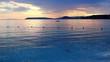 Sea ripples at sunset