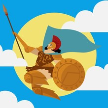 Athena Minerva Flying