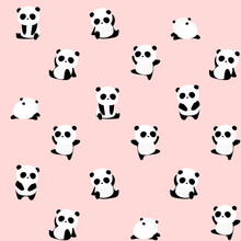 Seamless Vector Pattern: Panda...