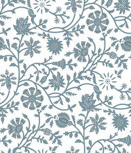 Seamless Tribal Floral Pattern