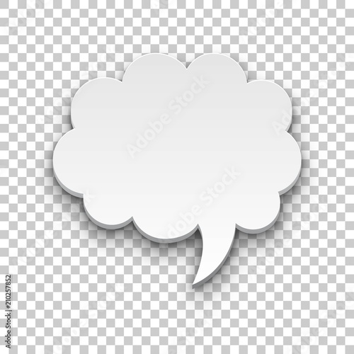 Quote style form cloud transparent background. Empty space for inserting words and sentences. Vector illustration