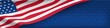 American nation banner with national flag and space for text. Independence and freedom vector concept. USA country day celebration. Traditional patriotic background with waving american flag