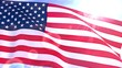 USA US American Flag Closeup Waving Against Blue Sky Seamless Loop CG 2