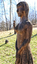 Wooden Statue Of The Lady Stan...