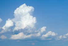 Cumulonimbus In Blue Sky