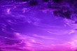 canvas print picture - violet sky with clouds