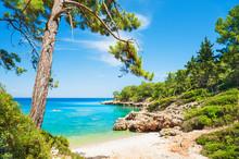 Beautiful Wild Beach With Turquoise Water Near Kemer, Turkey
