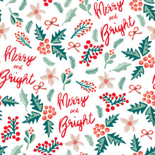 Merry And Bright Lettering, Mi...