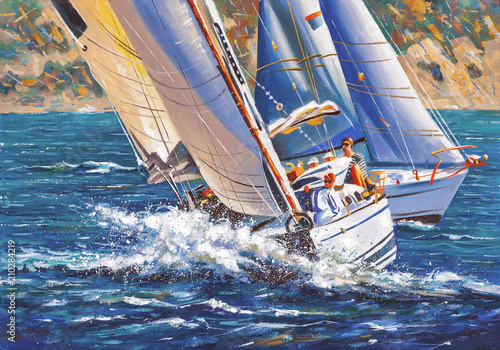 Obrazy Regaty   artwork-sailing-regatta-author-nikolay-sivenkov